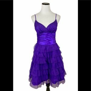 Masquerade Purple Cocktail Prom Dress